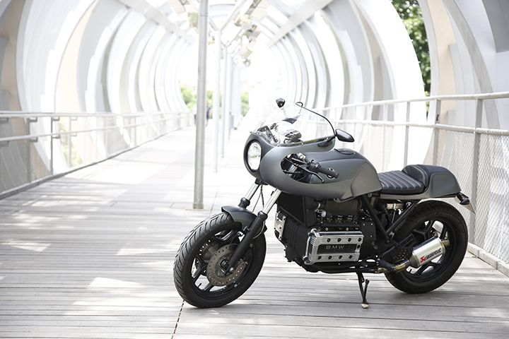 BMW K100 do Cafe Racer dam chat co dien sang trong day tinh te