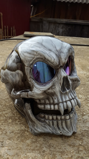 Helmet skull design by airbrushviet nam - 6