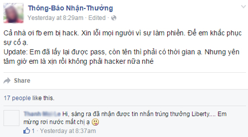 Nguoi dung Facebook do khoc do cuoi vi bi hack va doi ten
