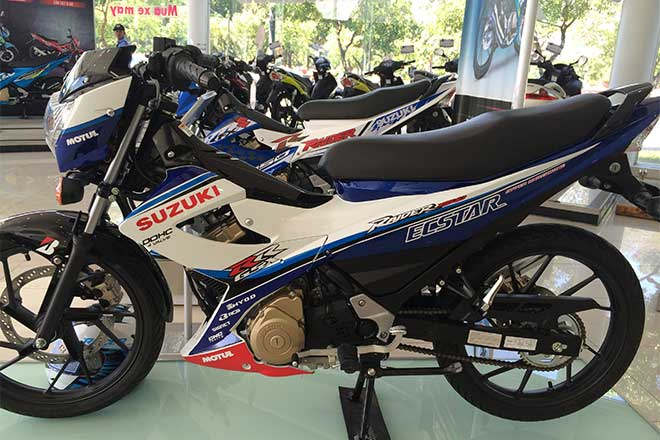 Suzuki Raider R150 la mat voi dan ao do tu dai ly chinh hang