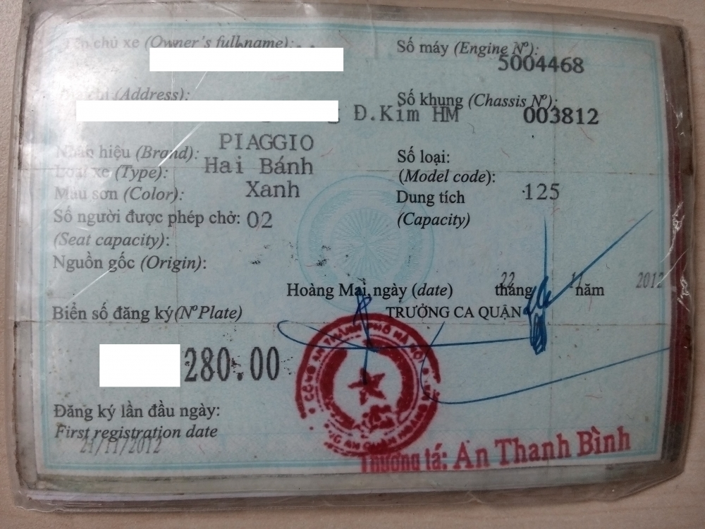 Can Ban Xe Vespa Lx 125 3v Ie Ha Noi - 5