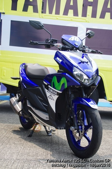 Can canh Yamaha Aerox 125 Movistar 2016