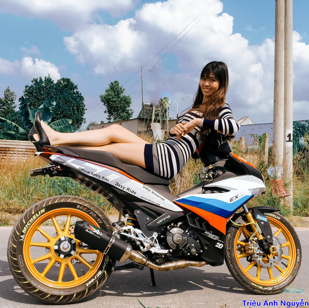 Exciter 150 chup cung mau nu de thuong - 5