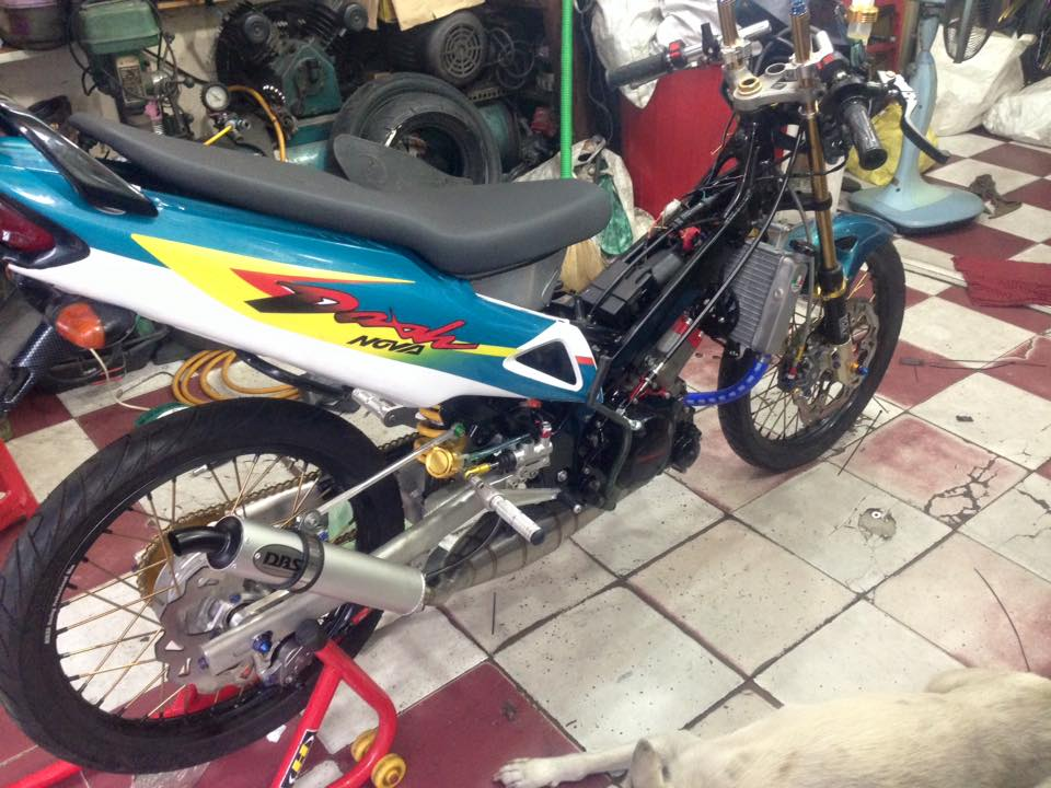 Can canh cop Nova dash 125cc do Drag