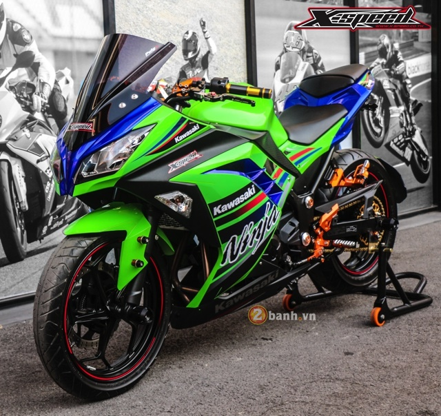Kawasaki Ninja 300 do noi bat voi dan option do choi Biker