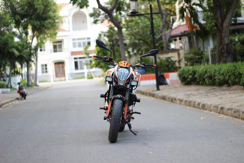 KTM 390 DUKE ABS do Po Akrapovic titanium kem KN USA cung hang ta phu kien - 3