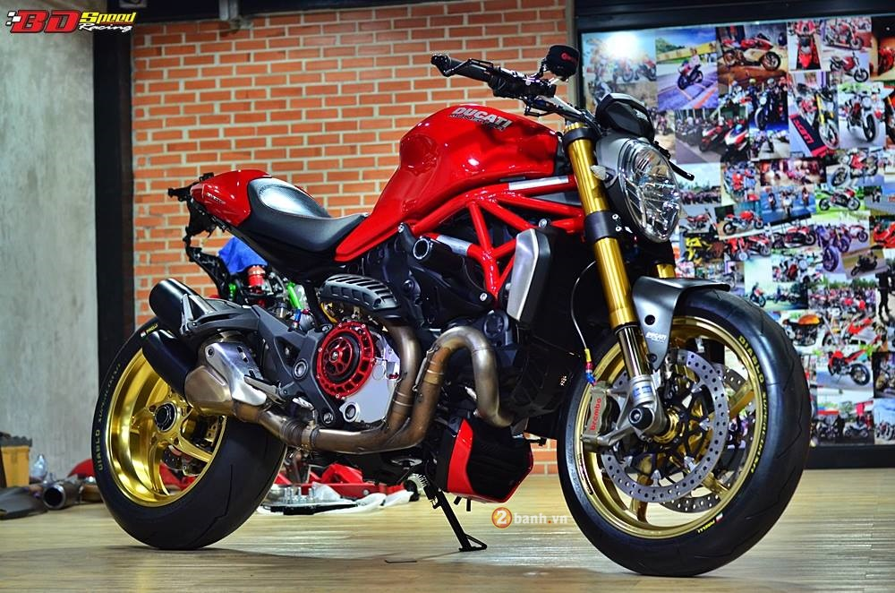 Ducati Monster 1200S do phong cach cung ve ngoai day an tuong