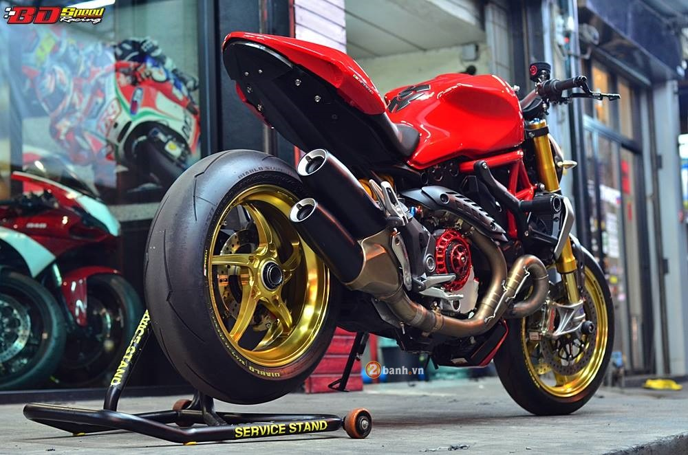 Ducati Monster 1200S do phong cach cung ve ngoai day an tuong - 5