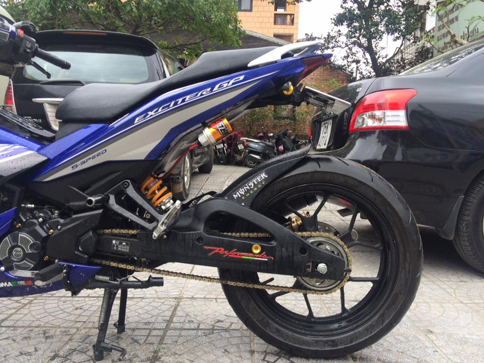 Exciter 150 do mam R25 noi gap op gap xinhan Rizoma - 2