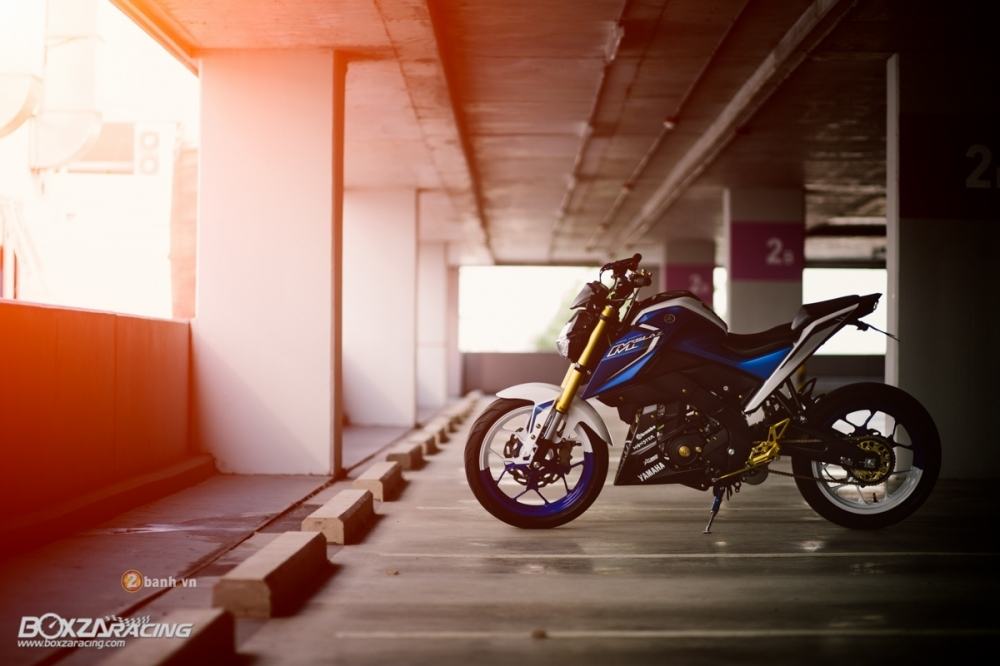 Yamaha MSlaz do an tuong voi phien ban Blue Machine