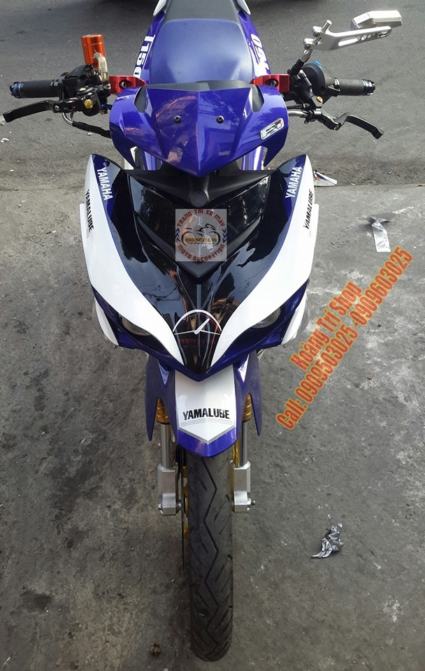 Exciter 150 choi phong cach Yamaha X1R chat