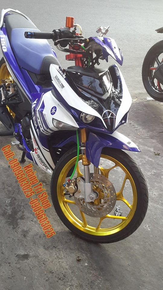 Exciter 150 choi phong cach Yamaha X1R chat - 3