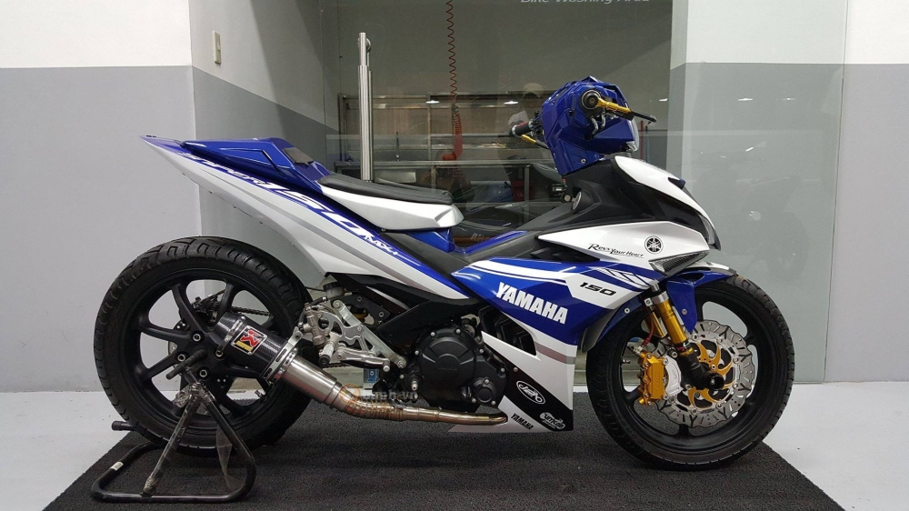 Exciter 150 do phong cach M1 Edition khung cua biker nuoc ban - 3