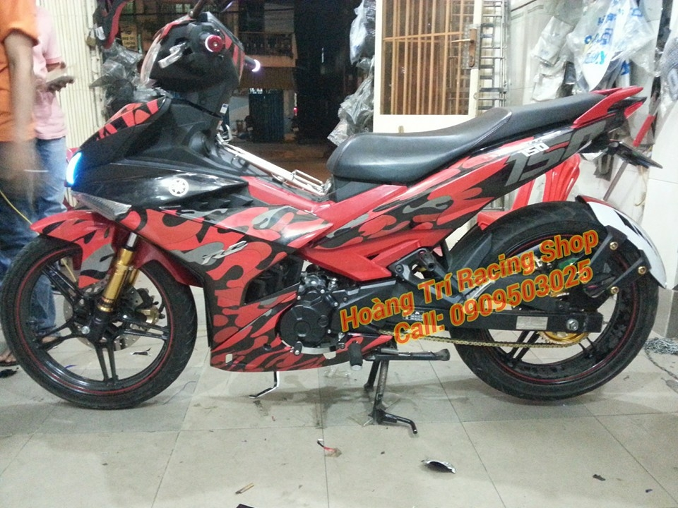 Exciter 150 do theo phong cach Camo - 2