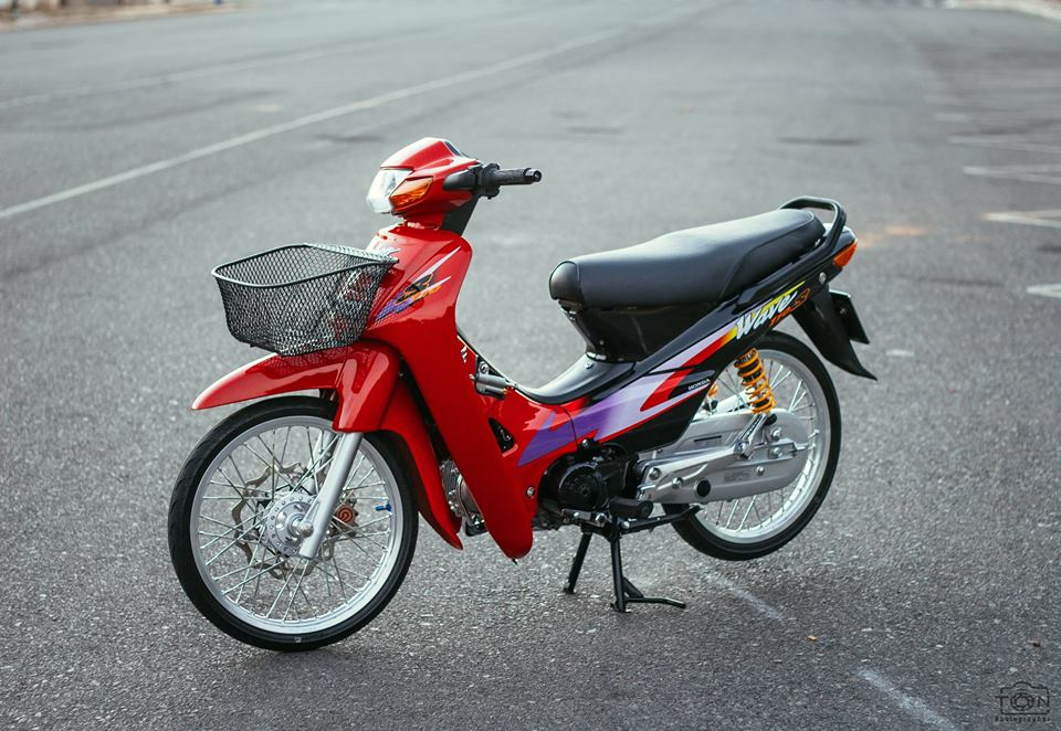 Full bo anh tinh te ve chiec Honda Wave S 110 phien ban Red Candy