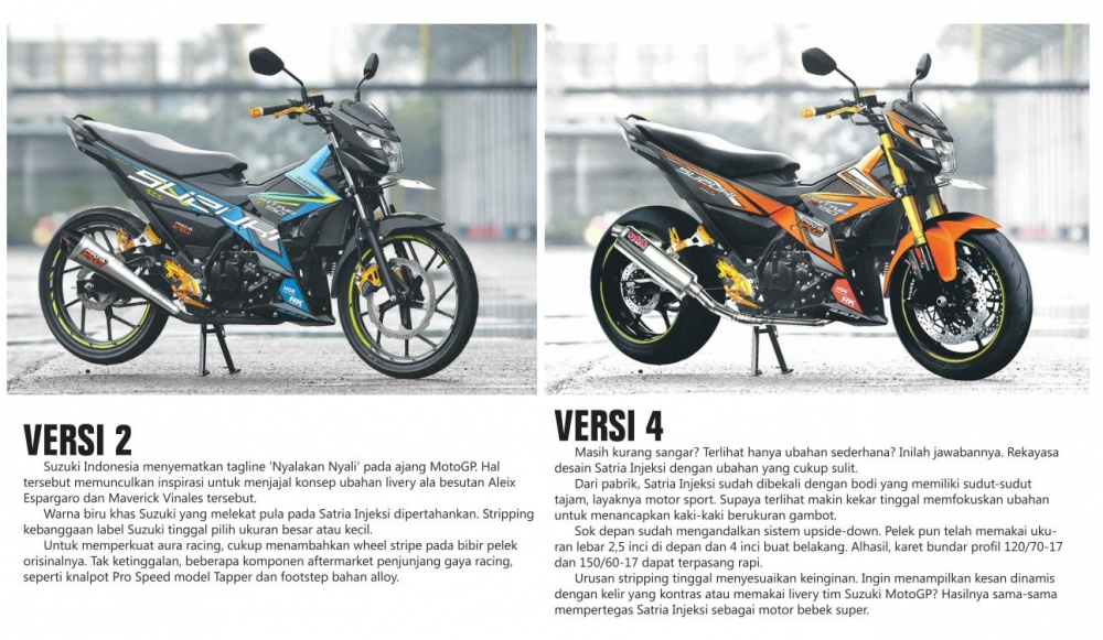 Mot so version do cua Suzuki Satria F150 FI 2016