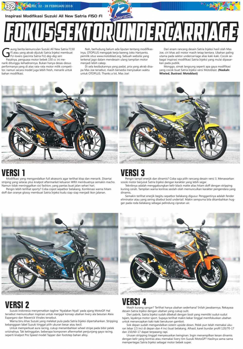 Mot so version do cua Suzuki Satria F150 FI 2016 - 3