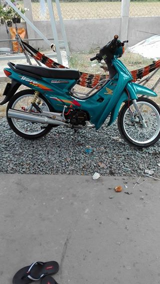 Wave 50cc duoc don lai leng keng voi bo may 110 manh me