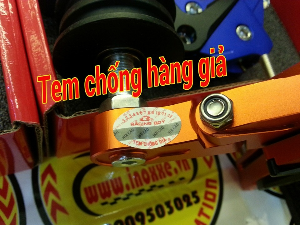 Do choi Exciter 150 Tang sen tu dong Racing Boy Sen vang DID - 8