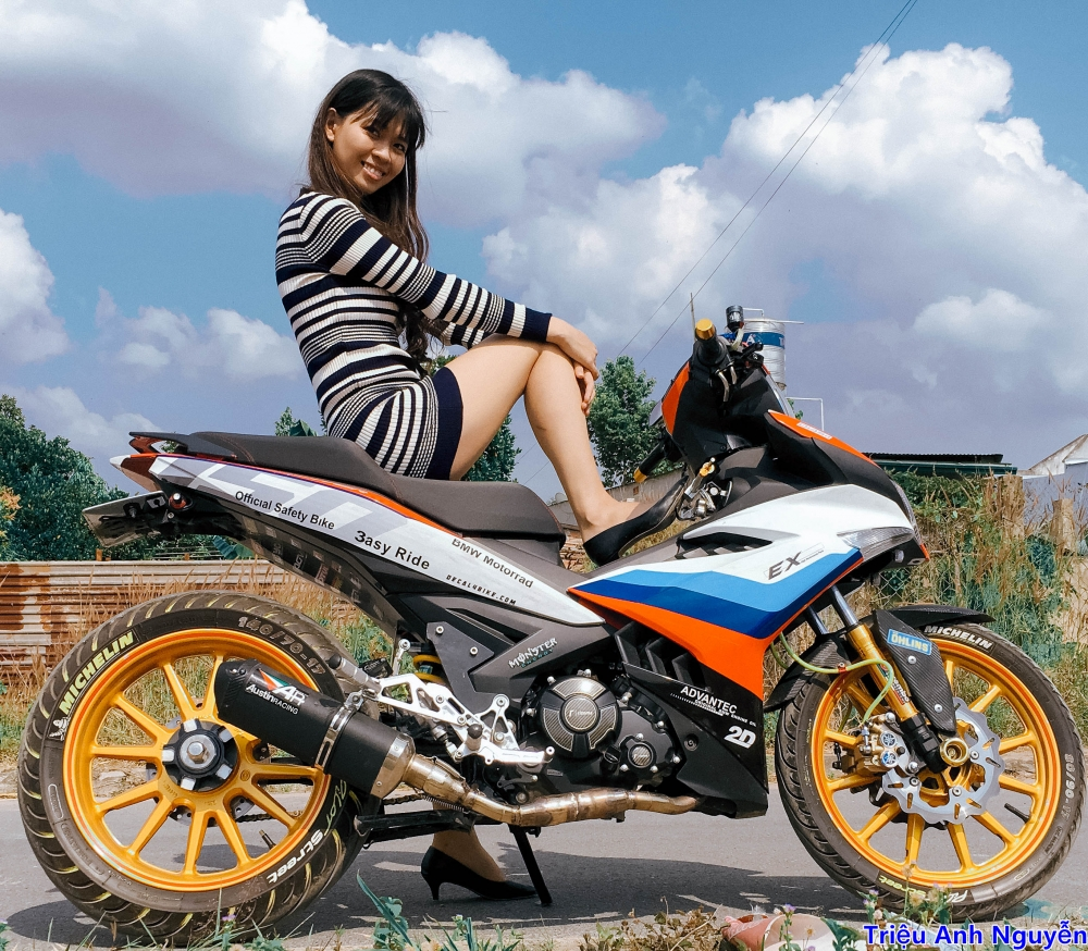 Exciter 150 chup cung mau nu de thuong - 3