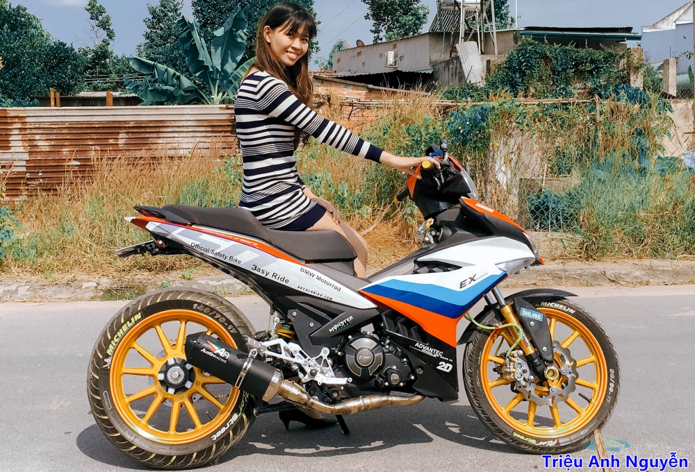 Exciter 150 chup cung mau nu de thuong - 2