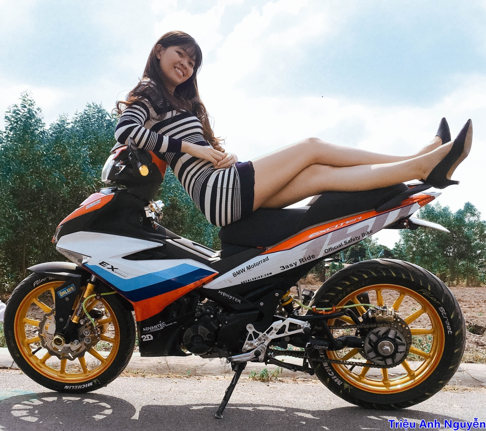 Exciter 150 chup cung mau nu de thuong - 6