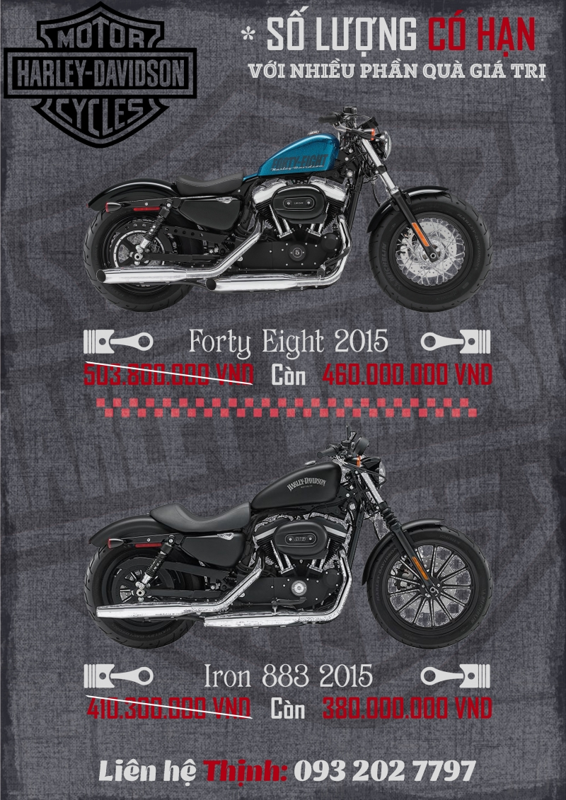 Harley Iron883 2015 Forty Eight 2015 khuyen mai lon