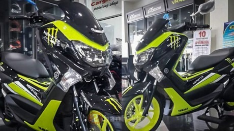Lo anh Yamaha NMax 155 2016 voi phien ban Monster va Movistar - 3