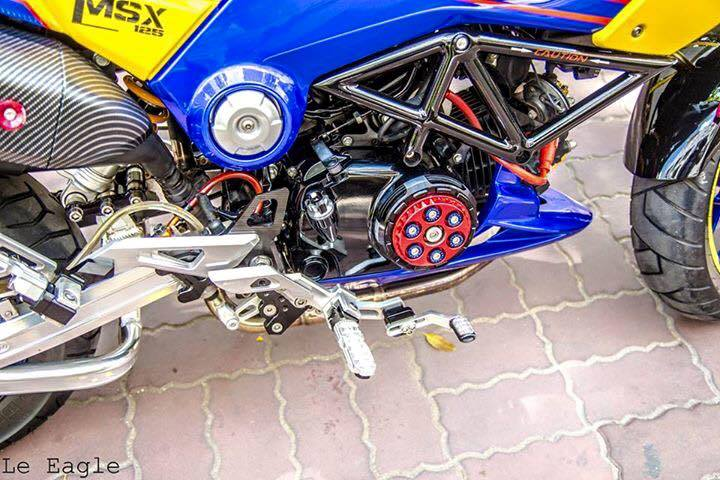 Honda MSX son Air Brush noi bat cung nhieu phu kien do choi - 6