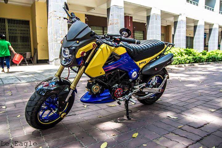 Honda MSX son Air Brush noi bat cung nhieu phu kien do choi - 8
