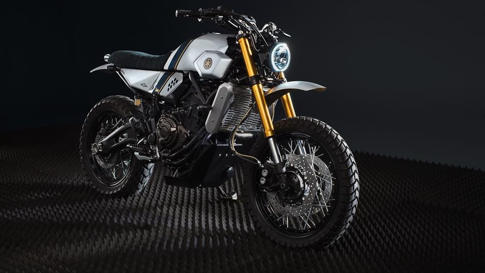 Yamaha XSR700 vo cung an tuong trong ban do Tracker tu Bunker Customs Cycle