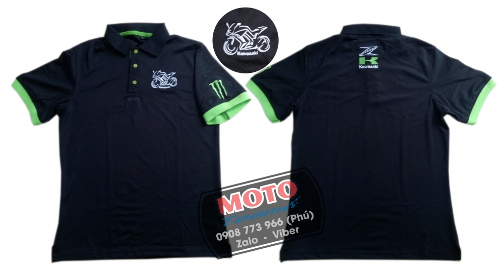 Ao thun polo moto Yamaha Monster
