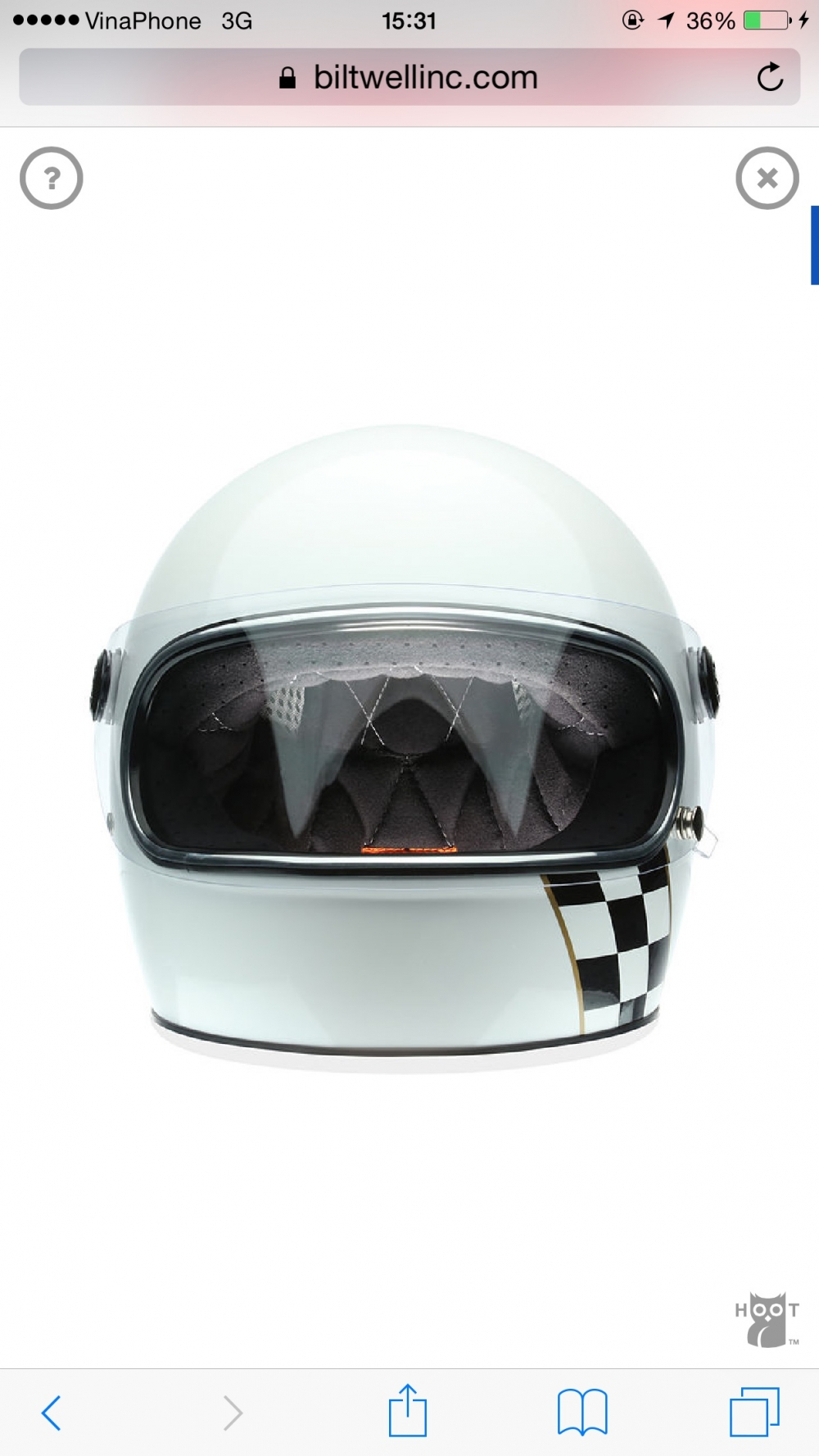 BILTWELL GRINGO S WHITE CHECKER STRIPE
