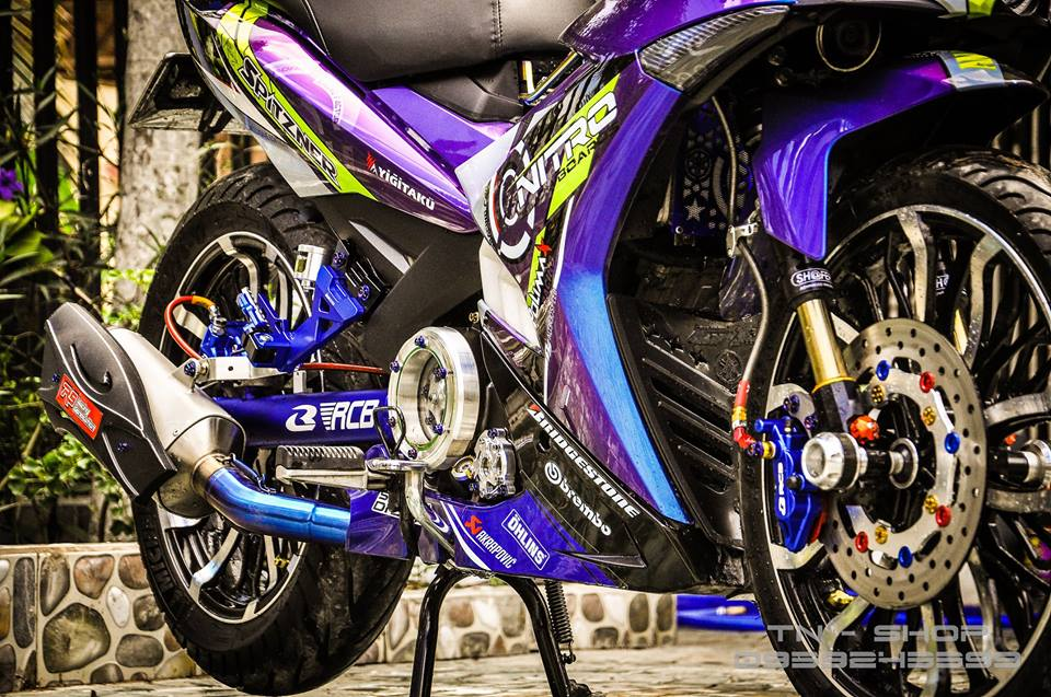 Exciter 150 do chat lu cua cac biker mien Tay - 7