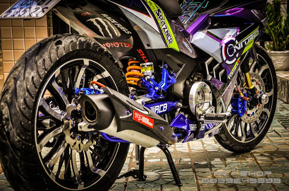 Exciter 150 do chat lu cua cac biker mien Tay - 9