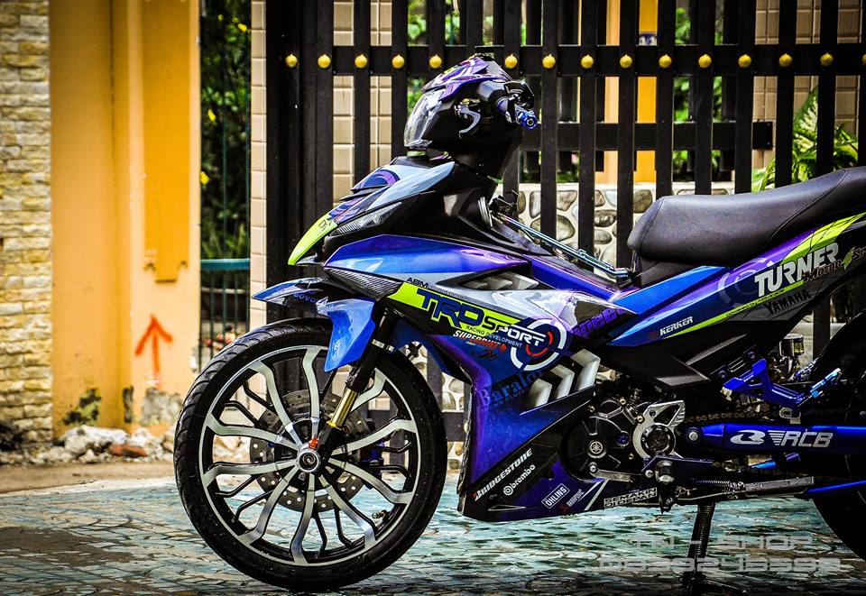 Exciter 150 do chat lu cua cac biker mien Tay - 13