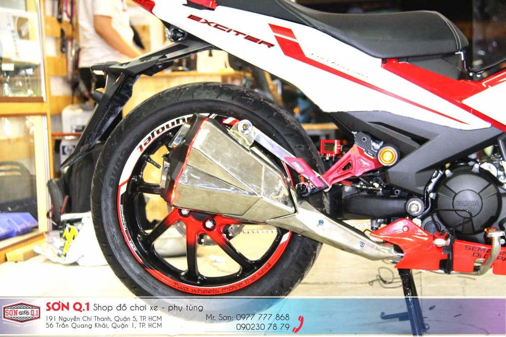 Exciter 150 do ham ho voi dan chan 1 gap cung cay sung Z1000 - 6