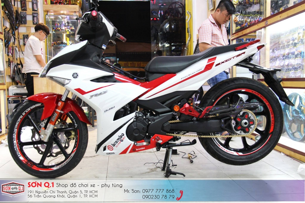 Exciter 150 do ham ho voi dan chan 1 gap cung cay sung Z1000 - 8
