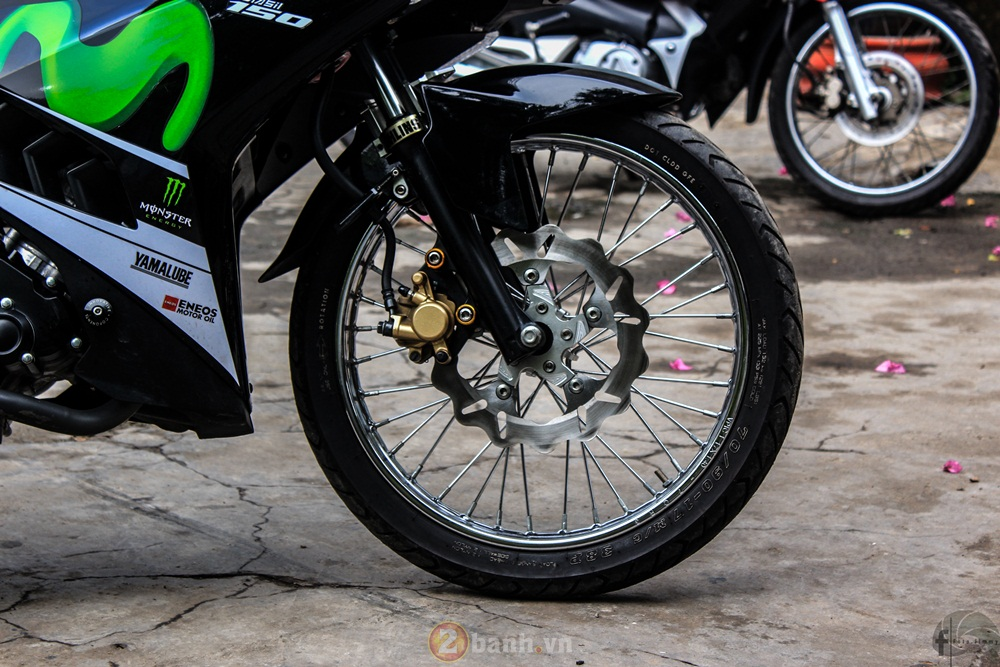 Exciter 150 do phong cach Movistar Dragster cua thanh vien 2banh - 3