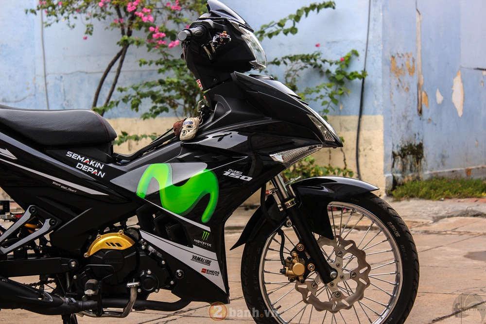 Exciter 150 do phong cach Movistar Dragster cua thanh vien 2banh - 7