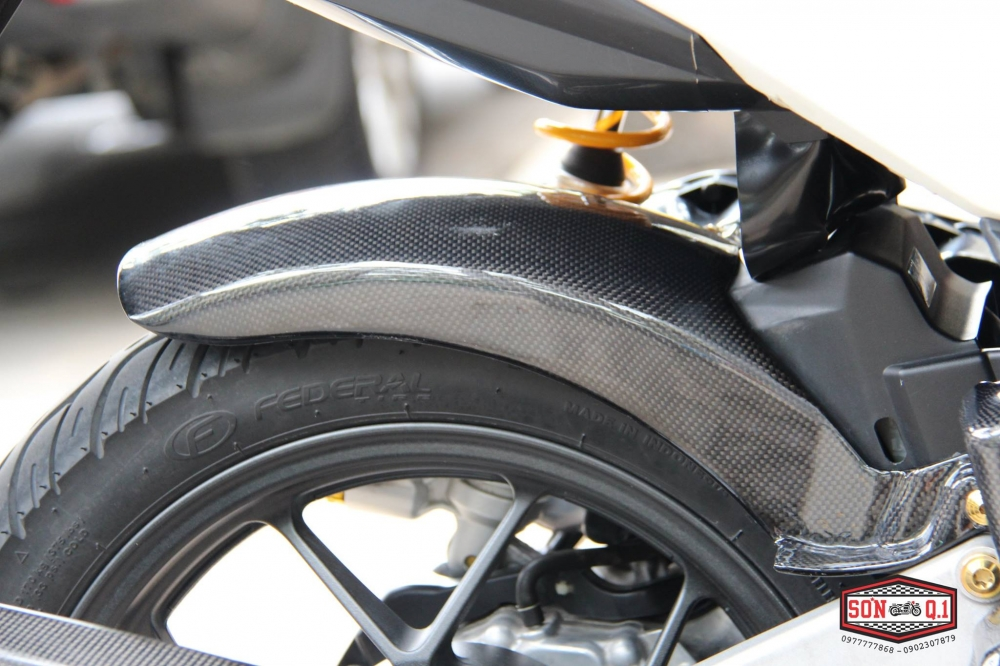 Honda Vario 2016 op Carbon Fiber cung dan option hang hieu - 4