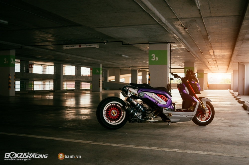 Honda ZoomerX do doc dao voi phien ban Purple Glass