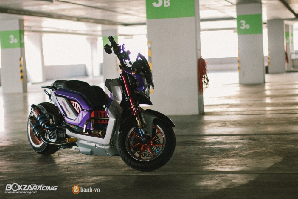 Honda ZoomerX do doc dao voi phien ban Purple Glass - 2