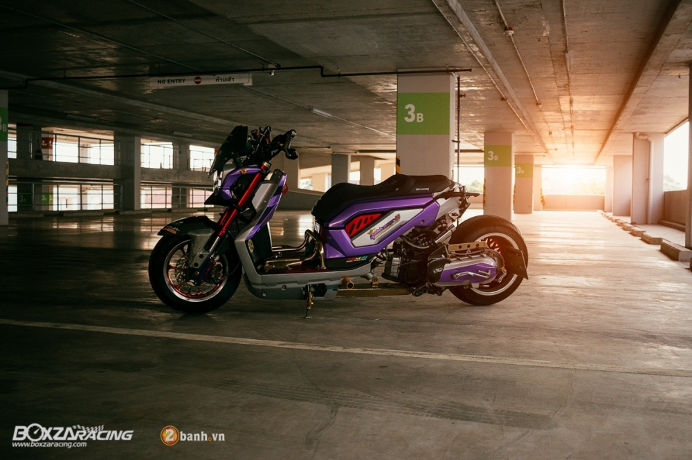 Honda ZoomerX do doc dao voi phien ban Purple Glass - 17