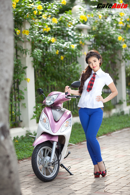 Kymco Candy 50 so dang cung hot girl Linh Napie - 20