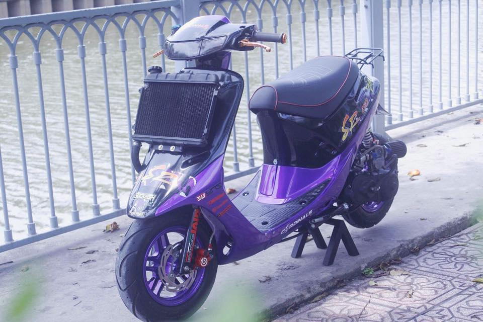 Vai tam anh Honda Dio SR do Full 52mm may nuoc
