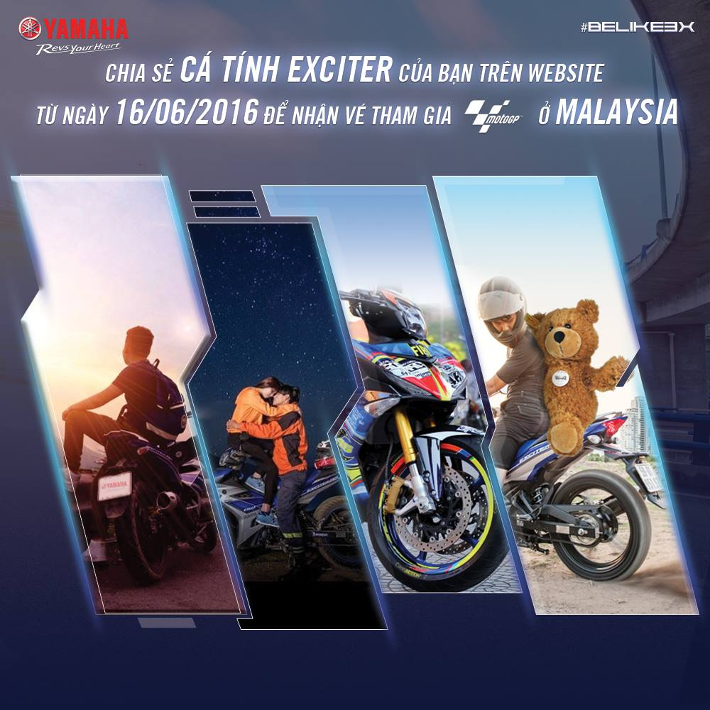 Cuoc thi Be Like Ex The hien tinh yeu voi Ex Exciter nam ngay co hoi di Malaysia xem MotoGP