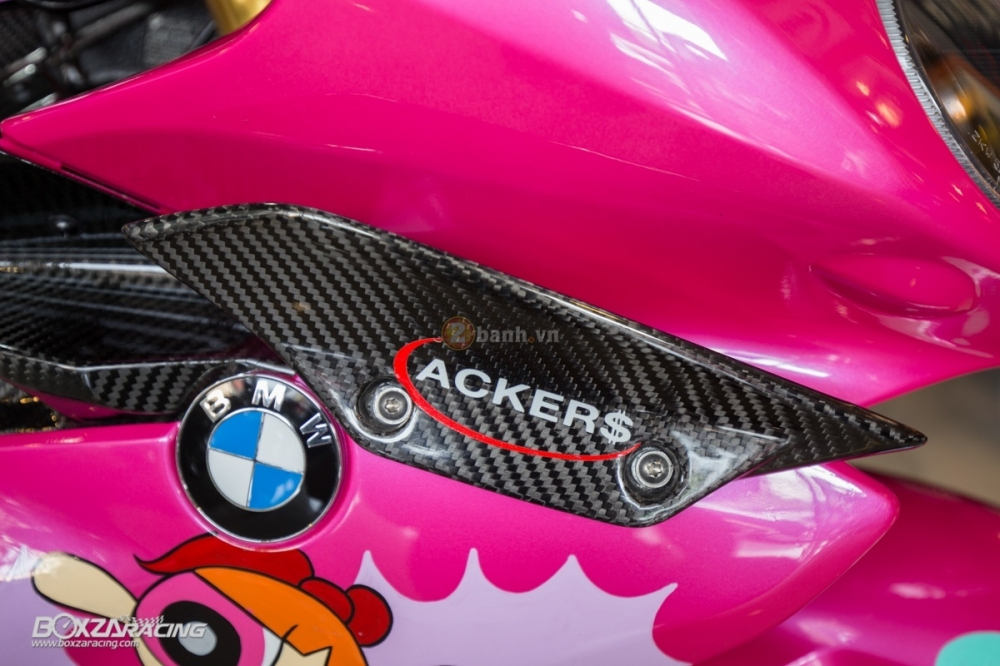 BMW S1000RR so cute voi phien ban do PowerPuff Gril tu The Ackers Racing - 15