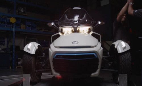 Clip Sieu mo to 3 banh CanAm Spyder F3S E Concept chay dien chinh thuc lo dien - 5