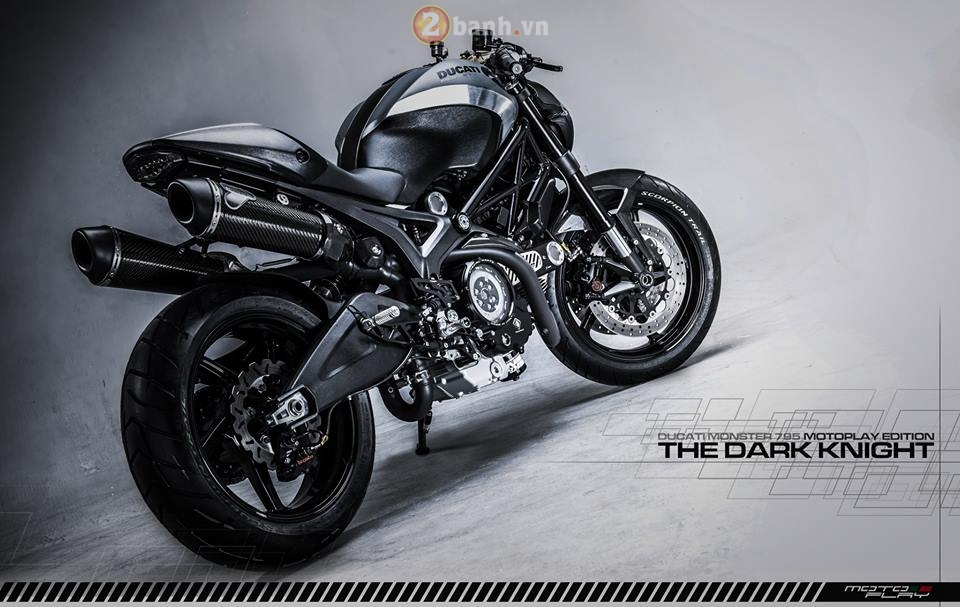 Ducati Monster 795 sieu ngau voi phien ban The Dark Knight - 2